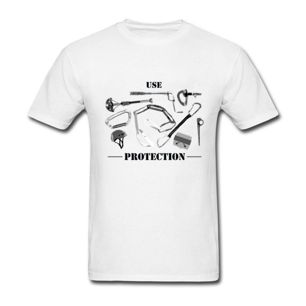 Stylish T Shirts Use Protection Rock Climbing Tees Man Round Neck Short Sleeved Clothing Men's Formal T-Shirts