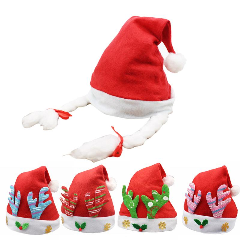Cute Christmas Hat Cartoon Antlers Christmas Commodity Children's Holiday Party Dress Up Toy Hats Beautiful Holiday Gifts
