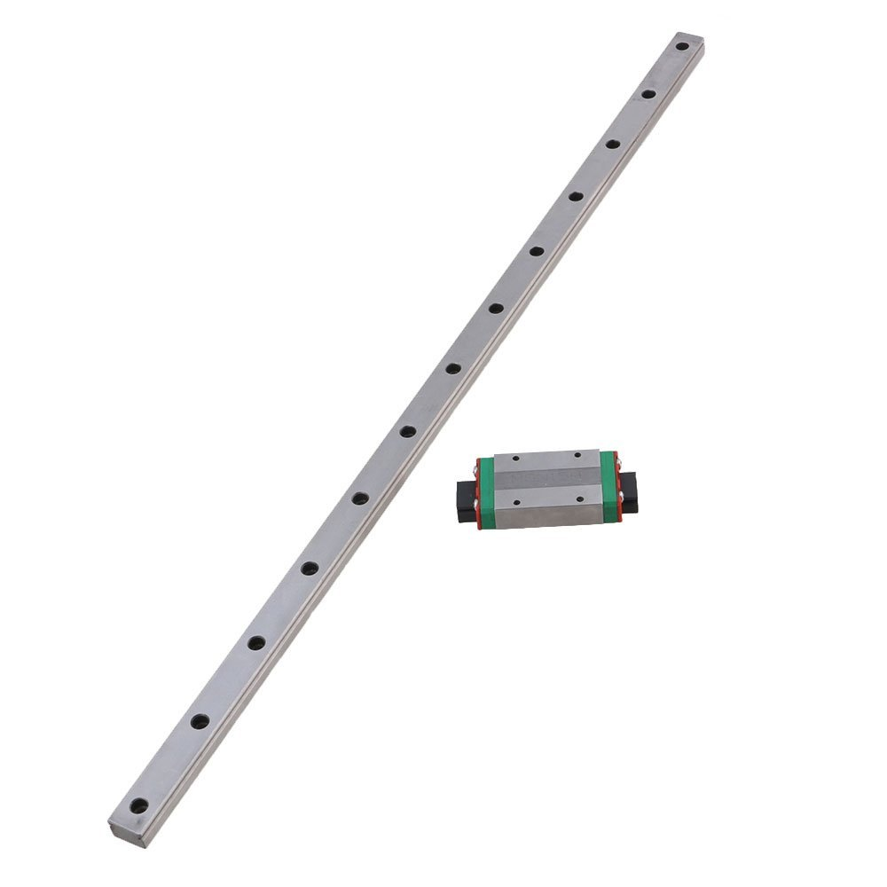 MGN15 500mm Length Bearing Steel Linear Guideway Rail &Extension Sliding Block Precision Measurement Silver Set of 2 toothed belt drive motorized stepper motor precision guide rail manufacturer guideway