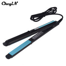 Discount! CkeyiN Professional Ceramic Corrugated Hair Iron Temperature Control Professional Crimper Hair Straightener Corn Plate Hair Wave
