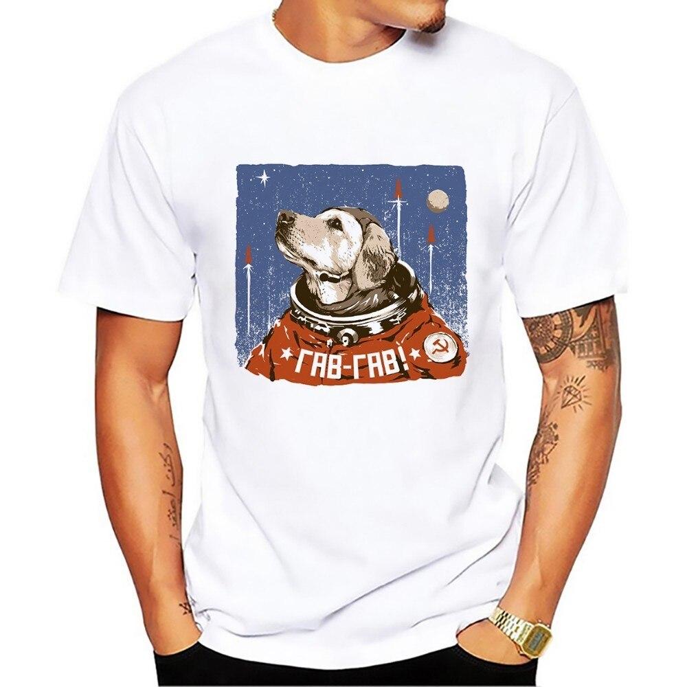 Padomju Savienības kosmosa suns smieklīgs krekls homme vasara - Vīriešu apģērbi