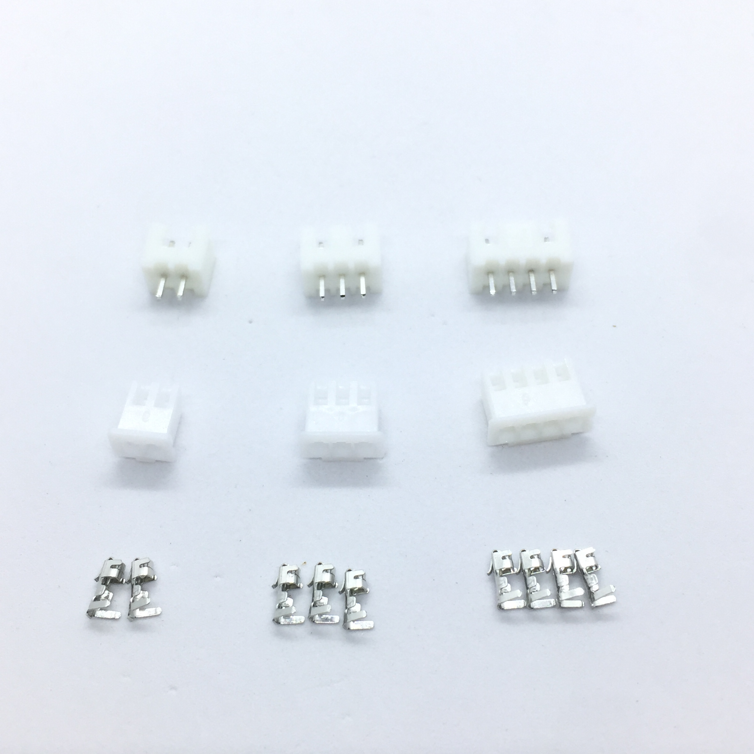 50 Sets Kit in box XH2.54 2p 3p 4 pin 2.54mm Pitch Terminal / Housing / Pin Header Connector Wire Connectors Adaptor XH2P 1000pcs dupont jumper wire cable housing female pin contor terminal 2 54mm new