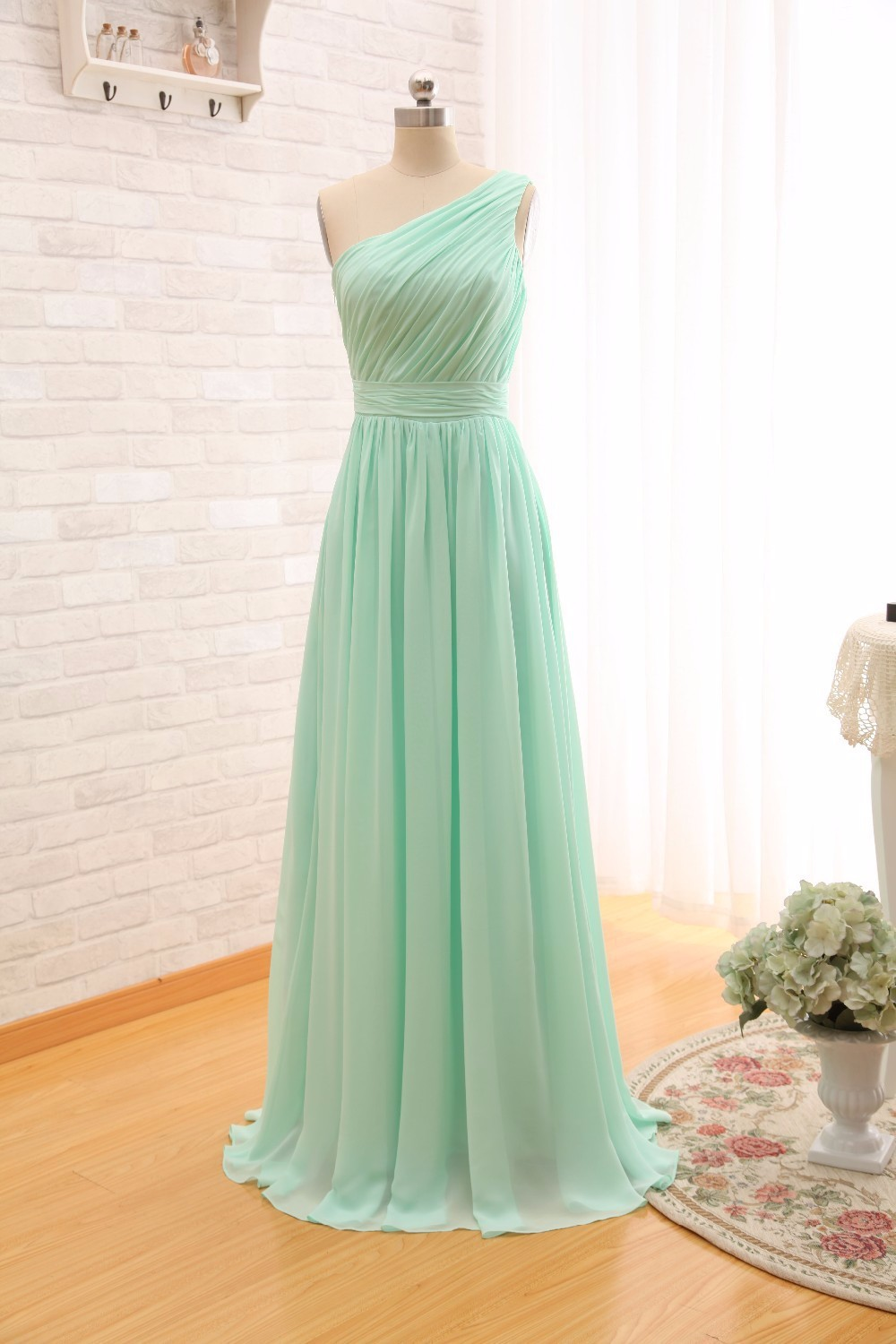 Ever-Beauty-Mint-Green-Long-Chiffon-A-Line-Pleated-Bridesmaid-Dress-Under-50-Wedding-Party-Dress (3)