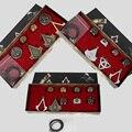 Горячая Новое Прибытие Аниме Assassins Creed Цифры Кулон Колье Черный Флаг Кольца Ожерелье Брошь Значок В Штучной Упаковке