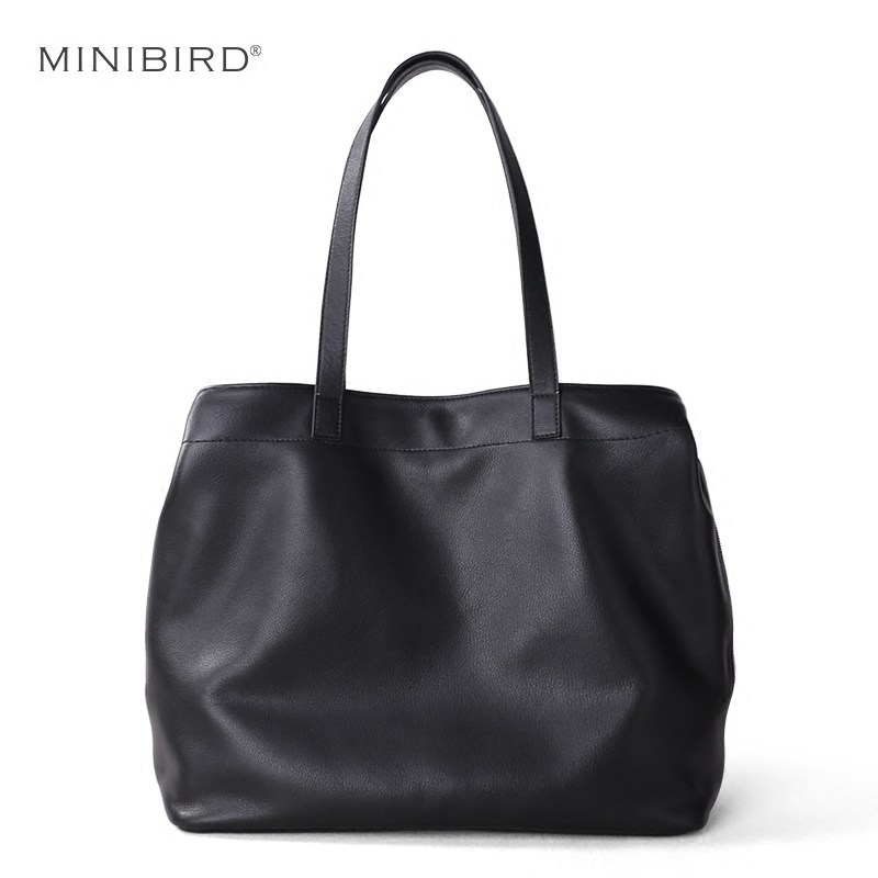 Genuine Leather Bag Women Shoulder Bag Female Luxury Simple Fashion Casual Tote Handbag Lady Cowhide Leather