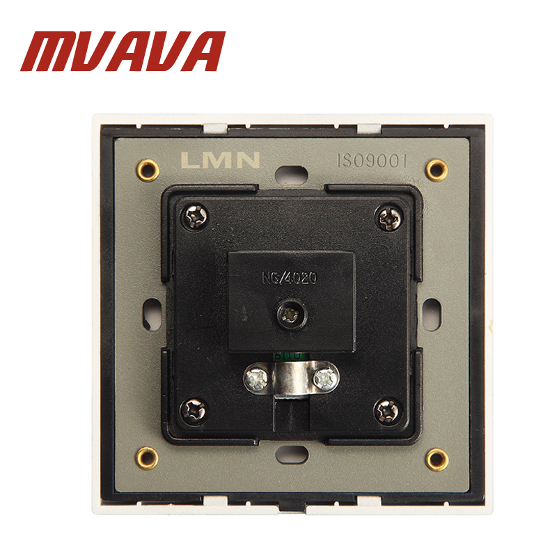 MVAVA Luxury Universal Cable TV Network Electric Wall Station Socket Outlet 50 60HZ 800W Fire Proof PC Panel Free Shipping in Electrical Sockets from Home Improvement