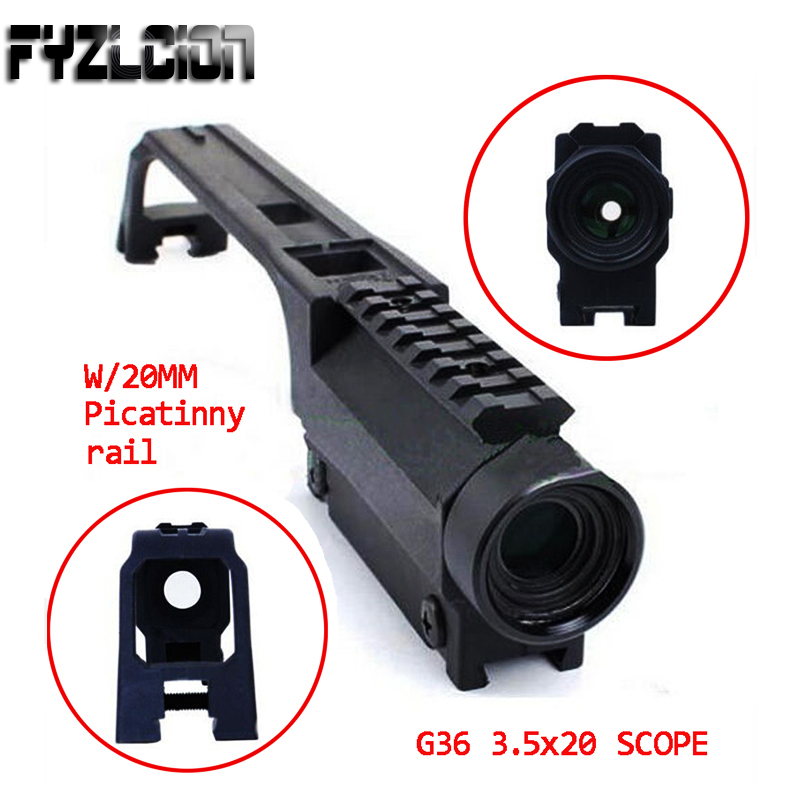 High Quality Rifle Scope 3.5X20 G36 Hunting Base Handle for MP5 Metal Sight Weaver Rail Mount