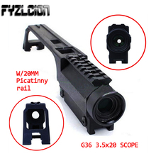 High Quality Rifle Scope 3.5X20 G36 Hunting Base Handle for MP5 Metal Sight Weaver Rail Mount picatinny rail for g36 g36c series black