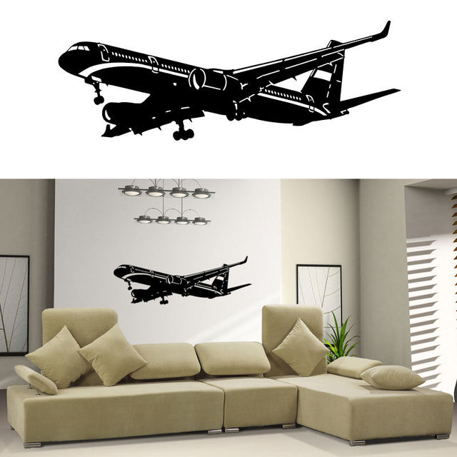 Removable Art Home Decor Vinyl Wall Decal Sticker Plane Air Boing Airbus Aircraft Airplane