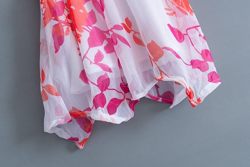 Drukowanie Baby Girl Clothes Set Kids Letnie szyfonowe bluzki + - Odzież dla niemowląt - Zdjęcie 5