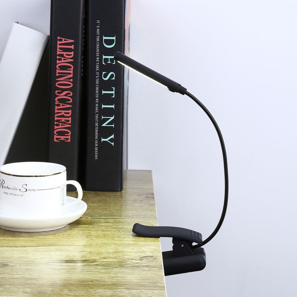 USB Battery Clip On Book Reading LED Light 6W COB Flexible Arm Stand Lamp For Laptop Notebook Working Portable Night Light