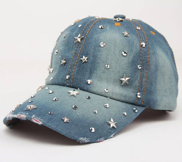 Women Baseball Cap Bling...