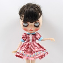 Neo Blythe Doll Pink Dress With Stocking & Bag