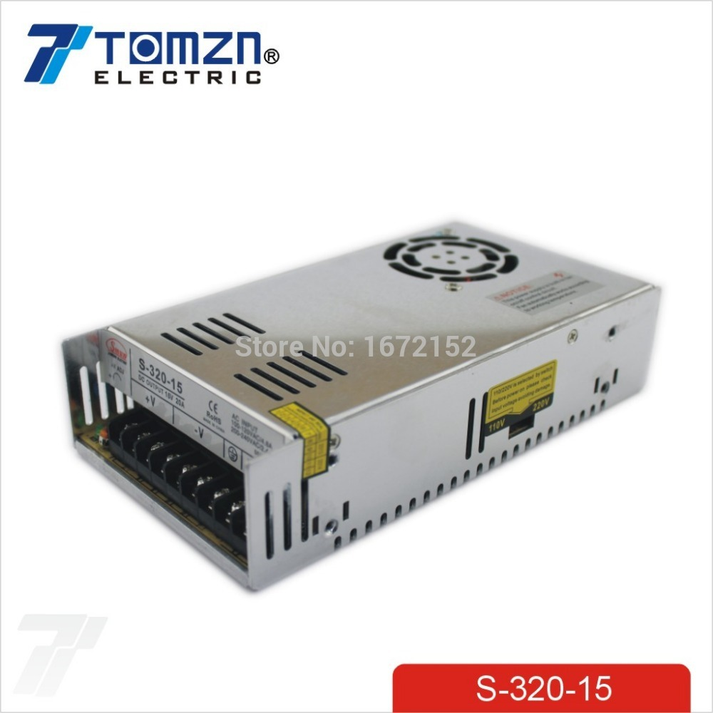 цена на 320W 15V 20A Single Output Switching power supply for LED Strip light AC to DC