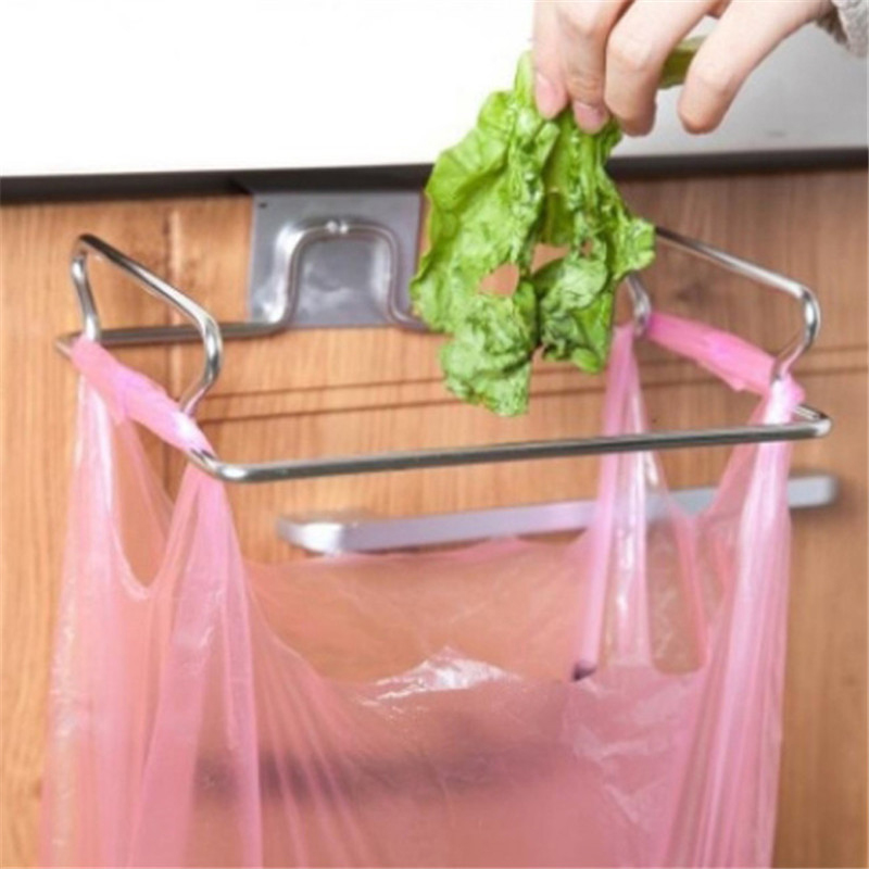 New Hanging Garbage Rack Hanging Kitchen Cabinet Storage Rack for Hanging Garbage Bathroom Organizer Kitchen Tools Home Goods