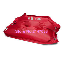 Movable beanbag furniture sofa seat, Outdoor buggle up red bean bag chair, Portable furniture