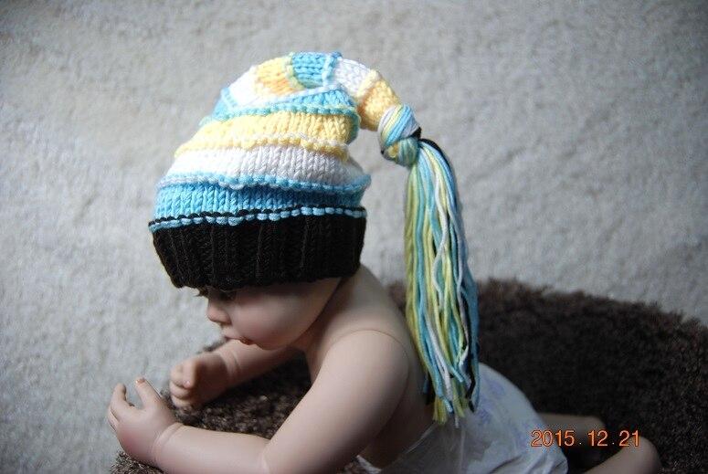 Mignon bébé Elf Hat main crochet bébé chapeau nouveau - né photographie  Prop 100% coton 0 - 12 M fbf81ee887d