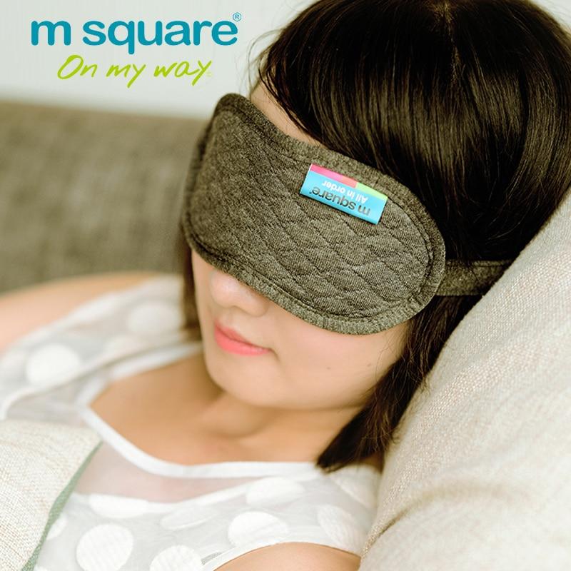 M Kwadratowe akcesoria podróżne do spania Eye Mask Cotton Sleep - Akcesoria podróżne - Zdjęcie 3