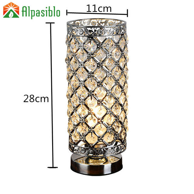 Online Shop Modern Small Crystal Table Lamps Brief Bedroom Bedside