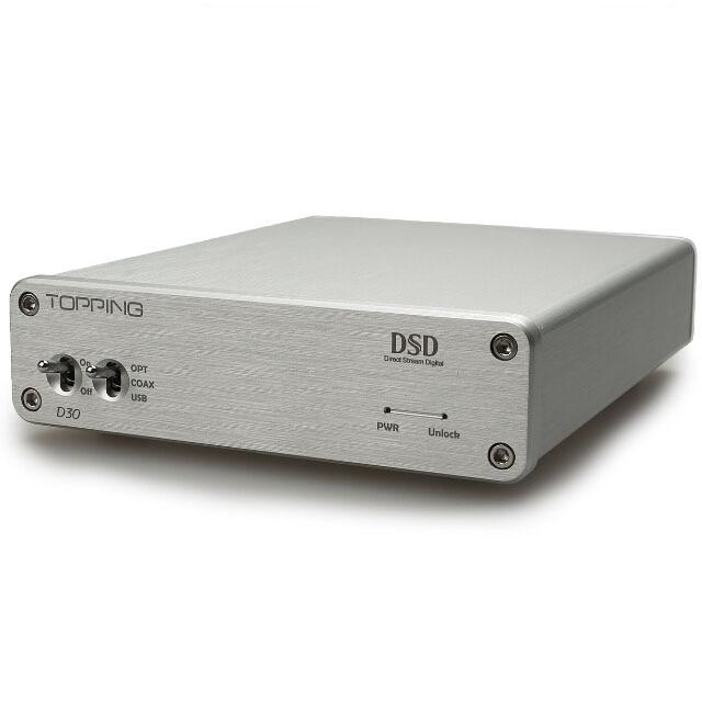 TOPPING D30 DSD Audio Decoder USB Coaxial Optical Fiber XMOS CS4398 24Bit 192KHz Support DSD64 DSD128
