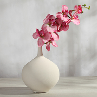 White Unglazed Ceramic Vase Flower Pot Ornaments White Thread Creative Fashion Bedroom Living Room Table Decorations Houses