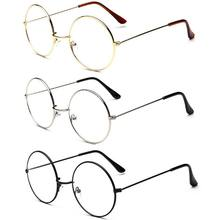 2019 New Classic Vintage Glasses Frame Round Lens Flat Optical Mirror Simple Metal Women/Men Glasses Frame(China)