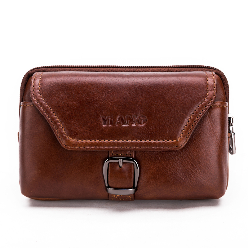Brand Genuine Leather Cell phone Bag Mobile phone Case Cover Cowhide Men's Waist Belt Pack Hip Bum Wallet Purse For Ipone 100% genuine leather men 5 5 6 5 inch cell mobile phone case bags hip design belt purse high quality waist hook coin purse bag