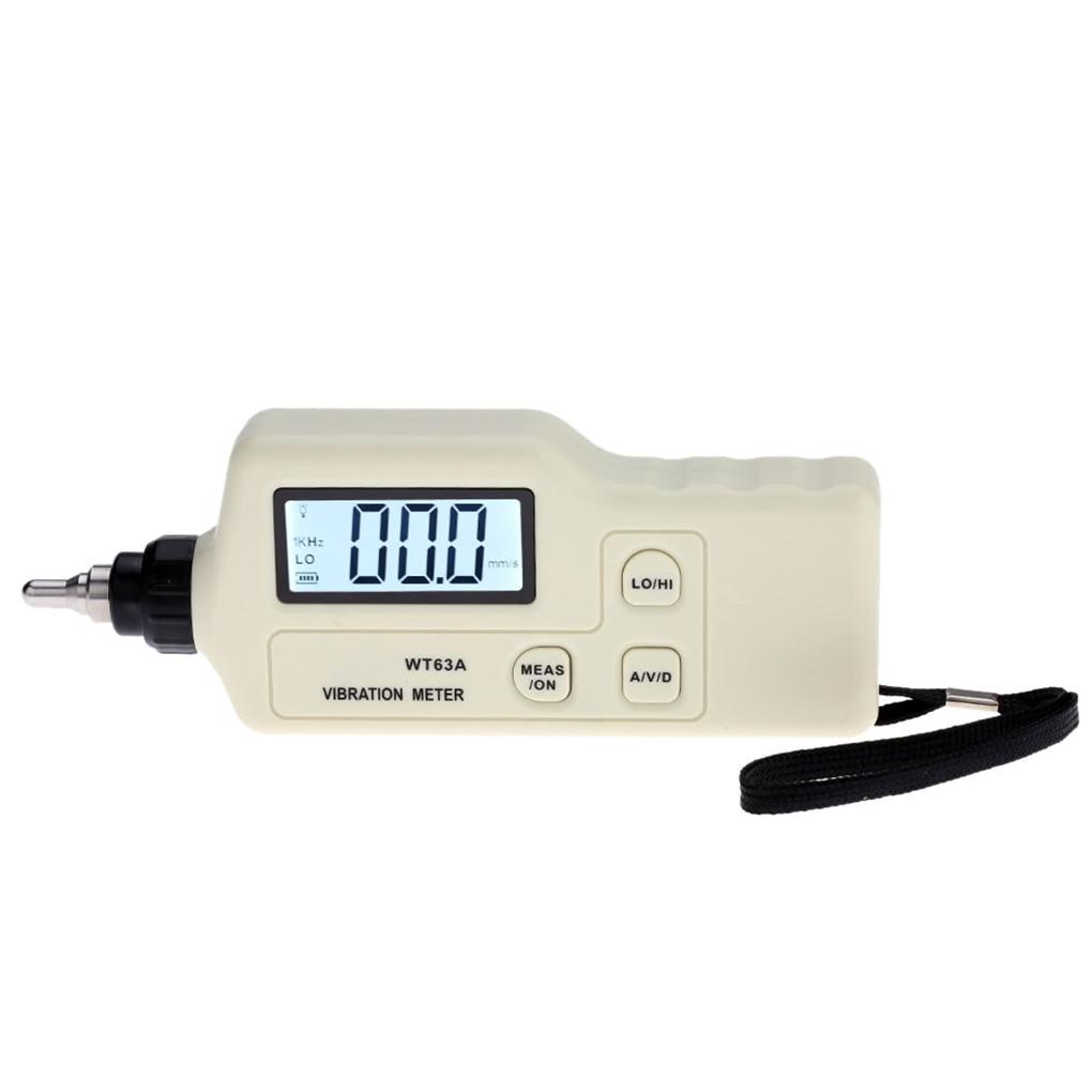 Digital Vibration Meter LCD Vibration Analyzer Tester AC Output Acceleration/Velocity/Displacement Measurement vibration meter speed accelerometer displacement measurement 0 1 to 199 9m s2 portable digital vibrometer analyzer tester