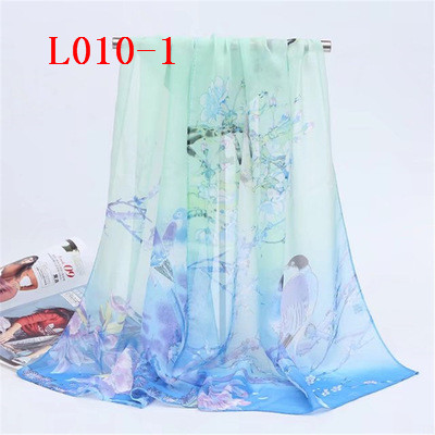 L010 шелковый шарф дамы печатных длинный шарф пляжное полотенце