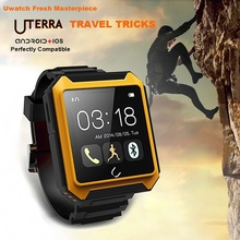 U- ดินสมาร์ทนาฬิกาบลูทูธกีฬากลางแจ้งip68กันน้ำนาฬิกาสำหรับsamsungs4/หมายเหตุ2/htcโทรศัพท์androidมาร์ทโฟน3บันทึก