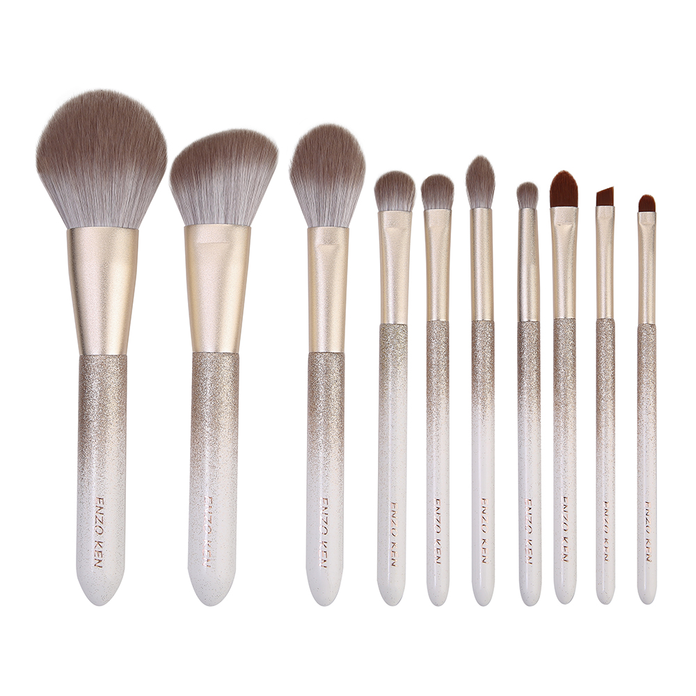 ENZO KEN 10 Pcs Makeup Brushes Set for Highlighting and Contouring Suitable for Eye and Face Makeup 20