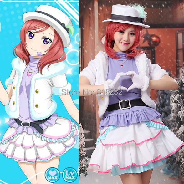 Love Live School Idol Project Snow Halation Nishikino Maki Vest Tops Dress Uniform Outfit Anime Cosplay Costumes