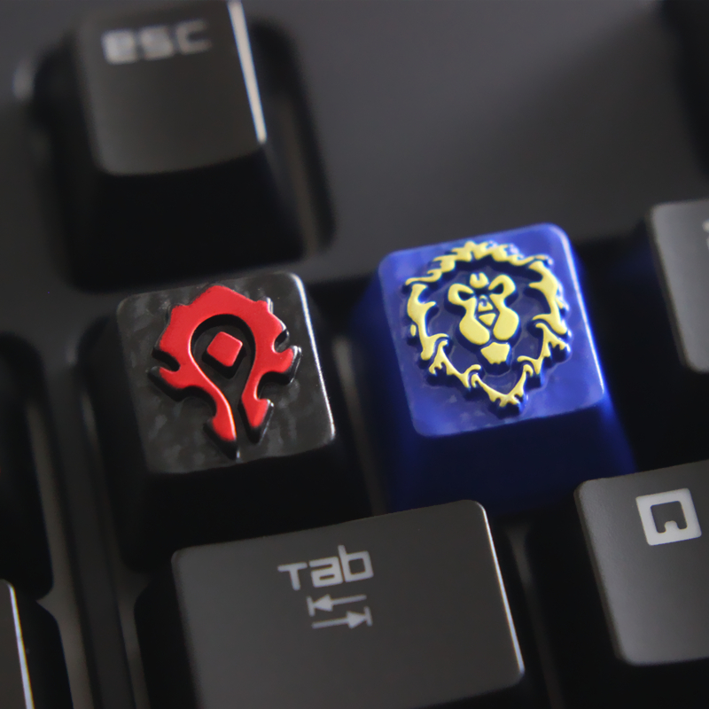 Customized Embossed Zinc Alloy Keycap For Game Mechanical Keyboard, High-end Unique DIY For A