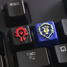 Customized embossed zinc alloy keycap for game mechanical keyboard, high-end unique DIY A