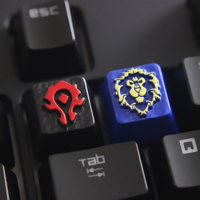 Porte-clés en alliage de zinc gaufré sur mesure pour clavier mécanique de jeu, bricolage unique haut de gamme pour un