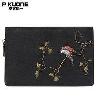 P. KUONE Vogel Bäume Design Frauen Handtasche Weiblichen Handtasche Berühmte Luxusmarke Messenger Bag Qualitätsrindleder leder