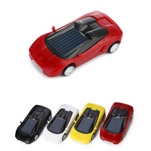 Mini Car Solar Powered Toy Kids Gift Super Cute Creative Educational ABS No-toxic Material Children Favorate Toys Five Color цена 2017