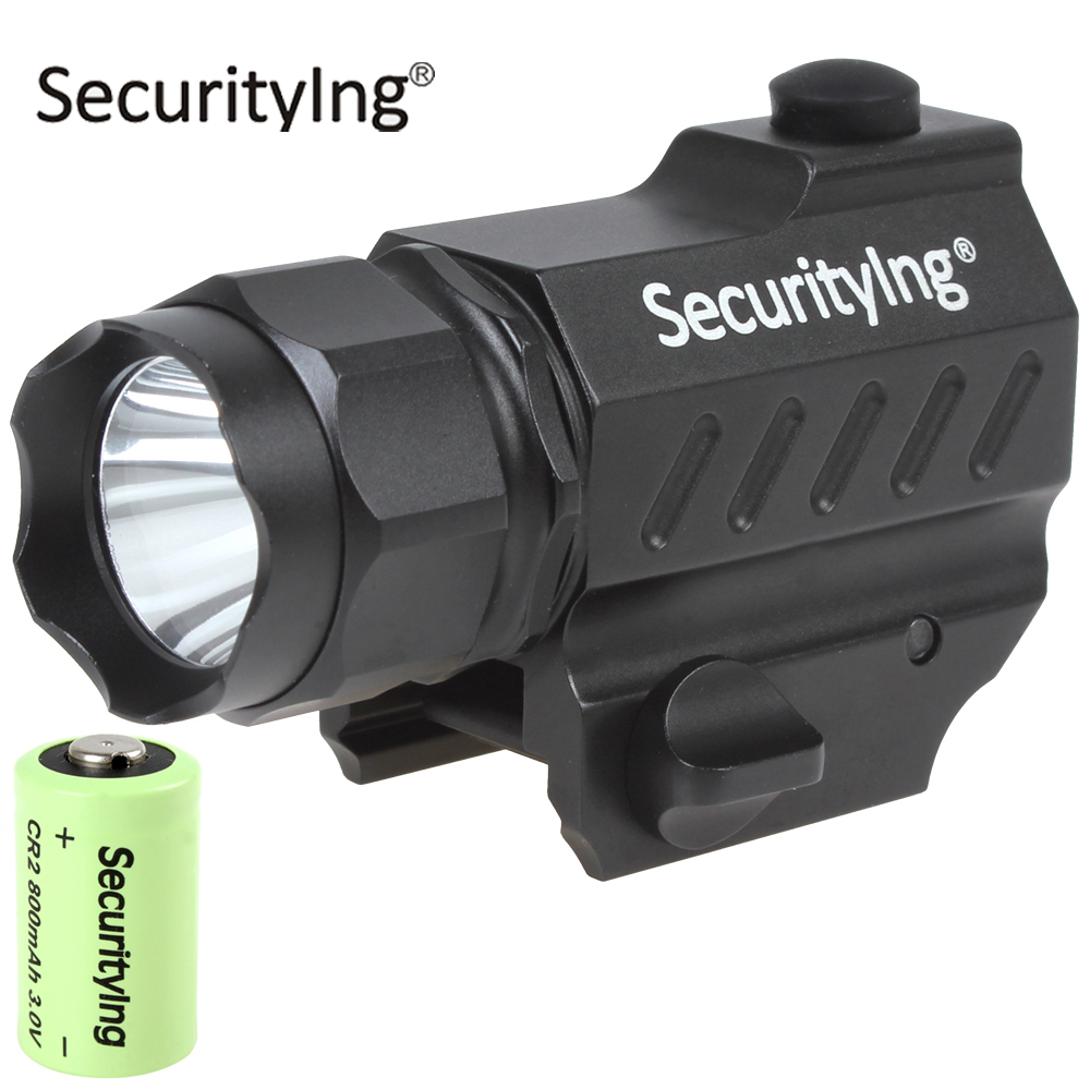 SecurityIng Super Mini LED Tactical Flashlight High Power Gun-Mounted XP-G R5 LED Flash Torch Light with 3.0V CR2 Battery p80 panasonic super high cost complete air cutter torches torch head body straigh machine arc starting 12foot