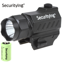 SecurityIng Super Mini LED Tactical Flashlight High Power Gun Mounted XP G R5 LED Flash Torch Light with 3.0V CR2 Battery