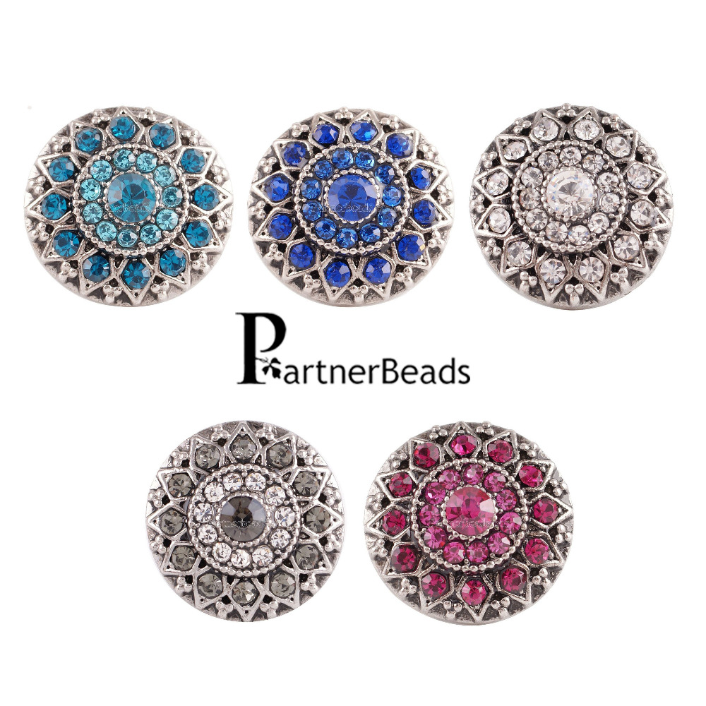 Delightful Colors And Exquisite Workmanship Novel Designs Obliging Hot Sale Metal Beads Interchangeable Ginger Snap Fit Beads Snaps Bracelet Or Necklace Jewelry Kc7083 Famous For Selected Materials