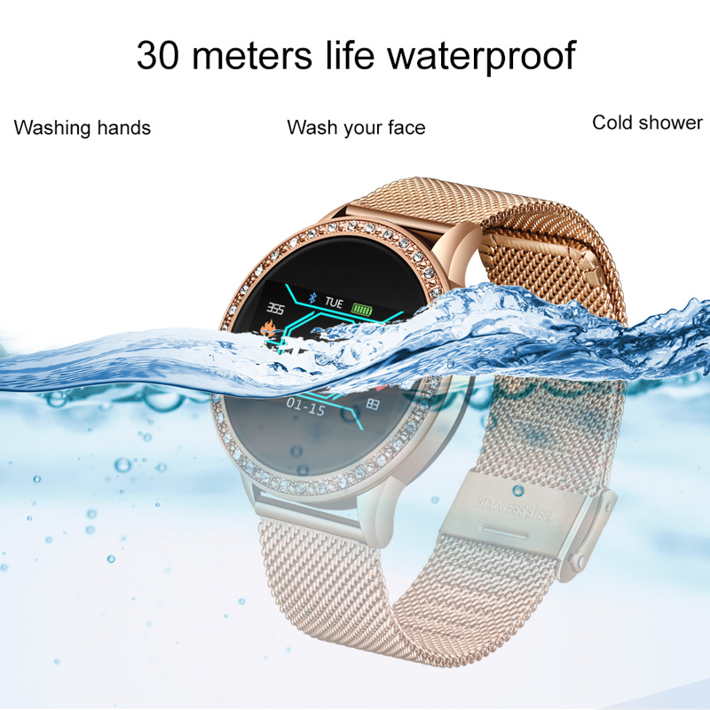 LIGE Ladies Smart Watch Women Blood Pressure Heart Rate Monitor Fitness tracker Sport Smart Band Alarm clock reminder Smartwatch 3