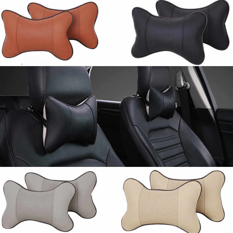 1 PC Perjalanan Mobil Auto Kursi Kepala Leher Sisanya Kulit Bantal Pad Headrest Tulang 4 Warna Ukuran 26X18.5X8.5 CM