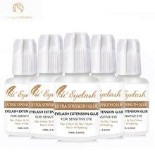 5pcs 10ml Hieyelash 3-4seconds Eyelash Extension Glue Professional  No Odor Tear Made In Korea
