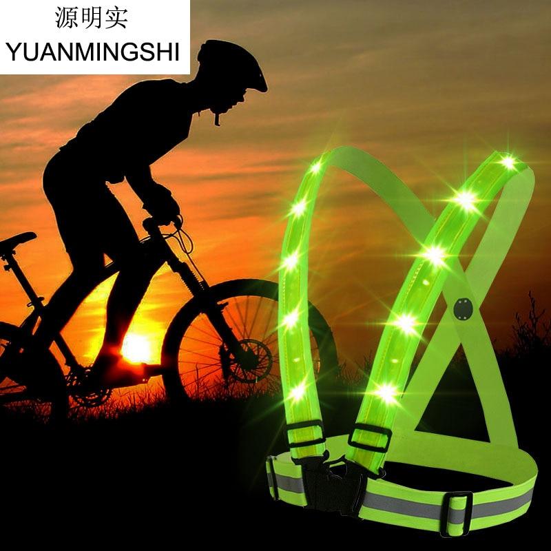 YUANMINGSHI高い視認性反射安全ベストランニング用ランニングスポーツバイクオートバイ反射ベスト