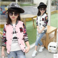 Girls Spring  Autumn 2016 new children's clothing girls big boy baseball jacket coat jacket big virgin Kids clothes 3-12 years