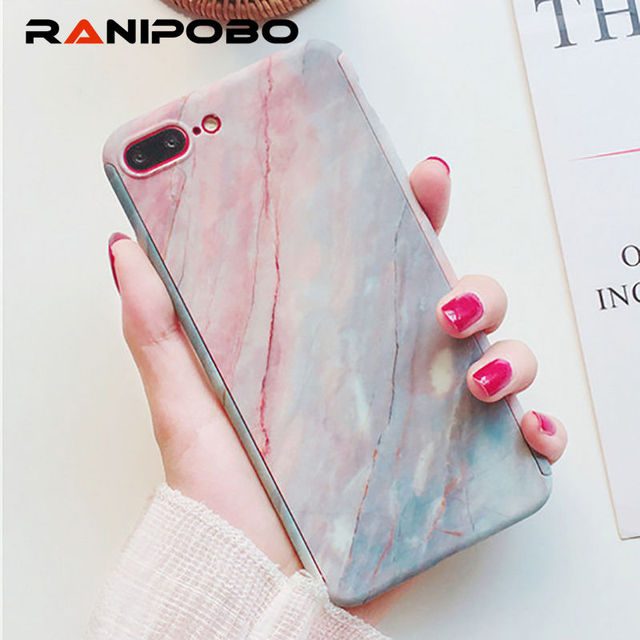 Fashion 360 Degree Marble Stone Phone Case For iPhone 6 6S Plus 7 7 Plus  full Protection With Tempered Glass Phone Back Cover 441d25f25ee0