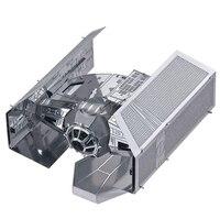 Vintage DIY Metal Model Airplane Building Kits TIE Fighter Creative Design For Children Gift Home Decoration
