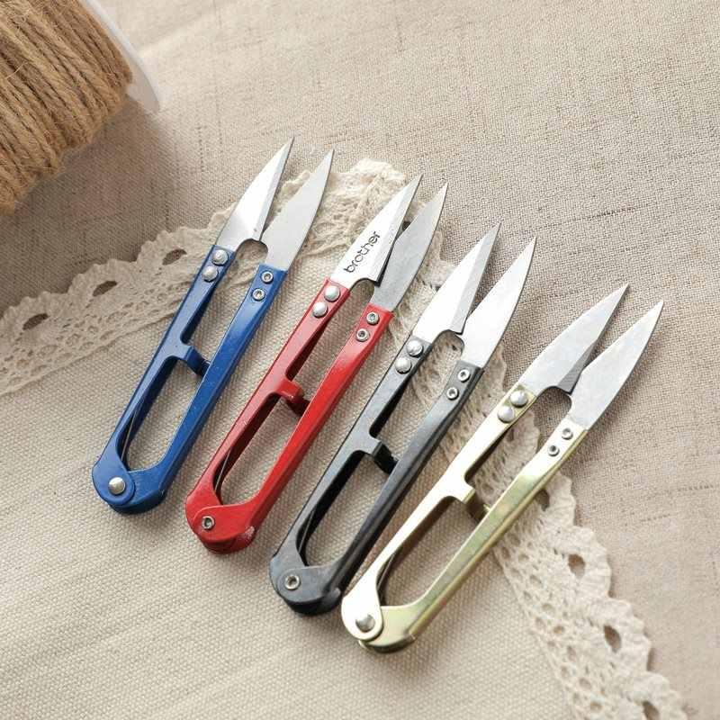 3Pcs/lot Stainless steel U-shaped scissors Fishing scissors Embroidery Snips  Thread Cutter Nippers  Scissors Sewing Tool LYQ