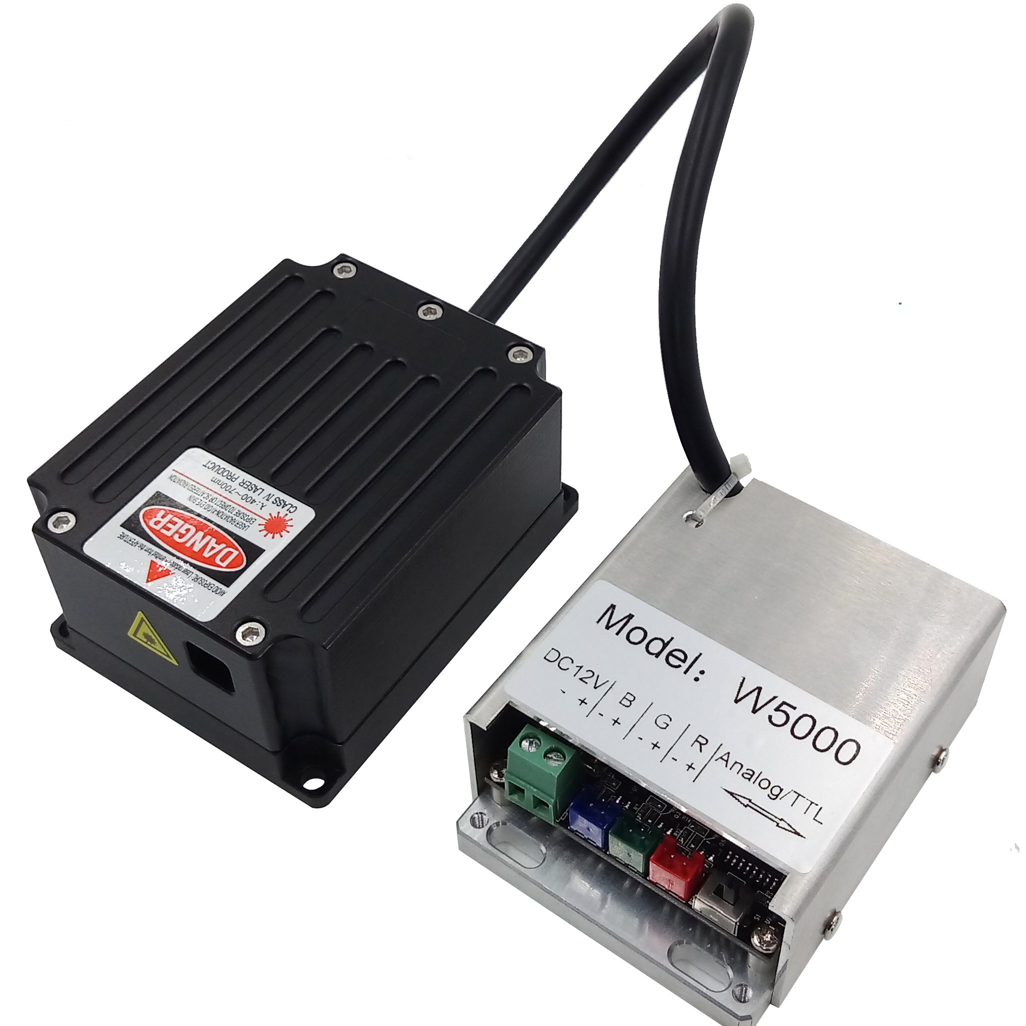<font><b>5W</b></font> 5000mW RGB <font><b>diode</b></font> <font><b>laser</b></font> module by TTL and Analog Modulation for DMX or ILDA DJ stage light projector production image