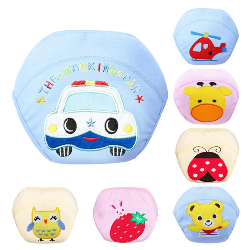 Baby Boys Girls Training Pants Cartoon Potty Training Reusable Nappies Cloth Diaper Toilet